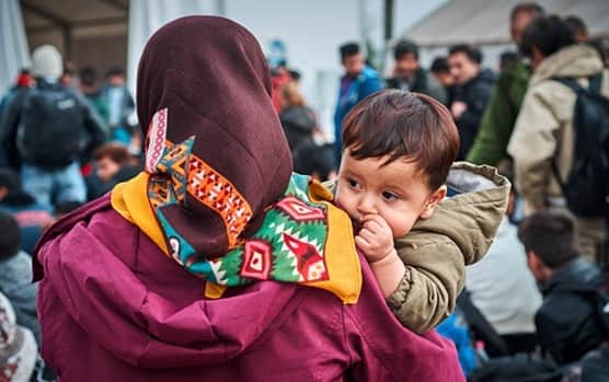Refugee and immigrant child who need help