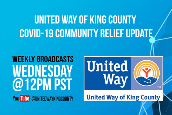 United Way of King County is hosting a livestream covid-19 community relief update on rental assistance. It will be held on Wednesday April 15 at 12pm PST.