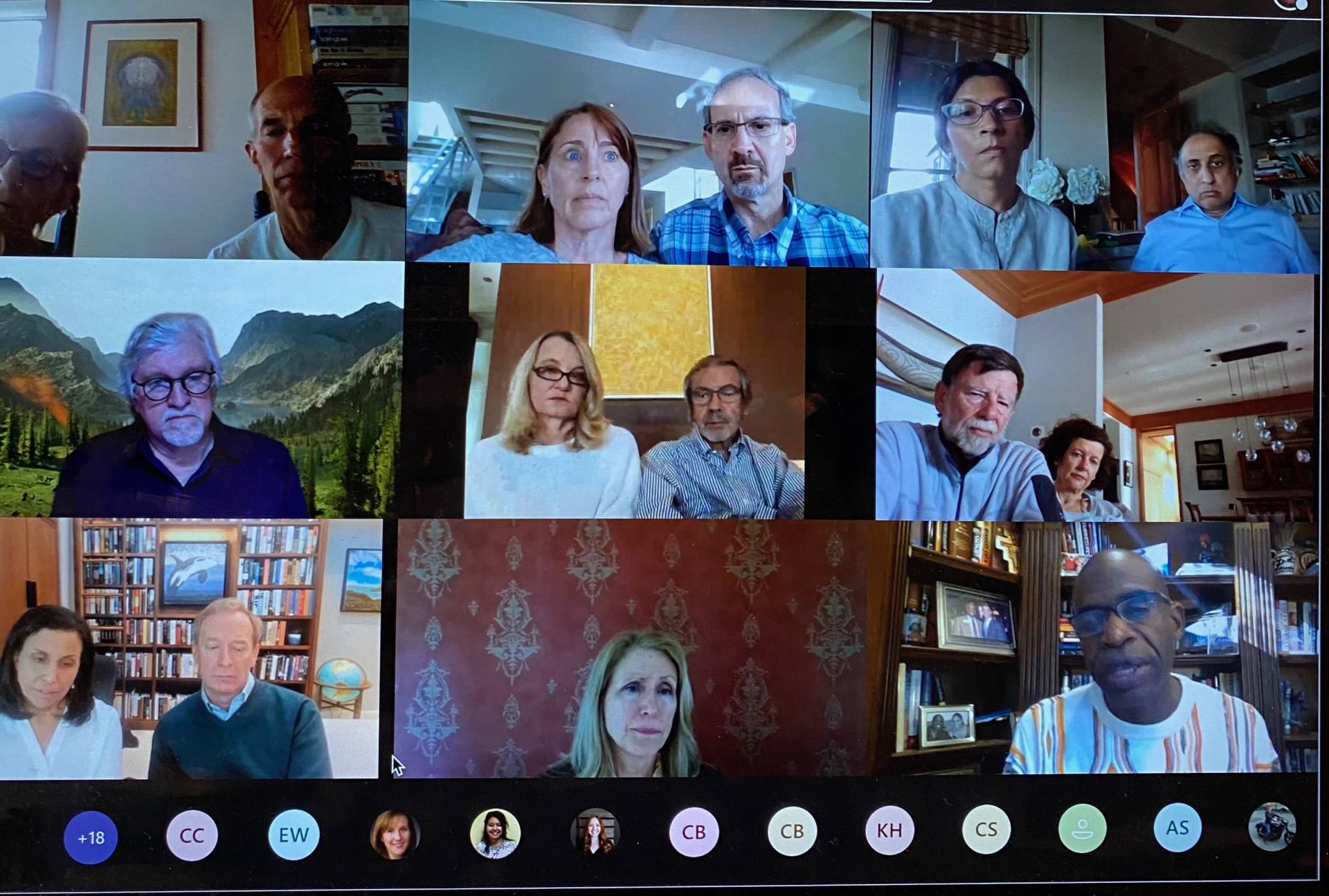 screenshot of a teams meeting of all participants to the remote meeting